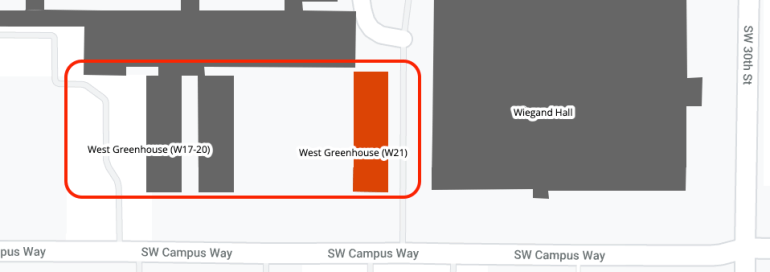 West Greenhouses area map