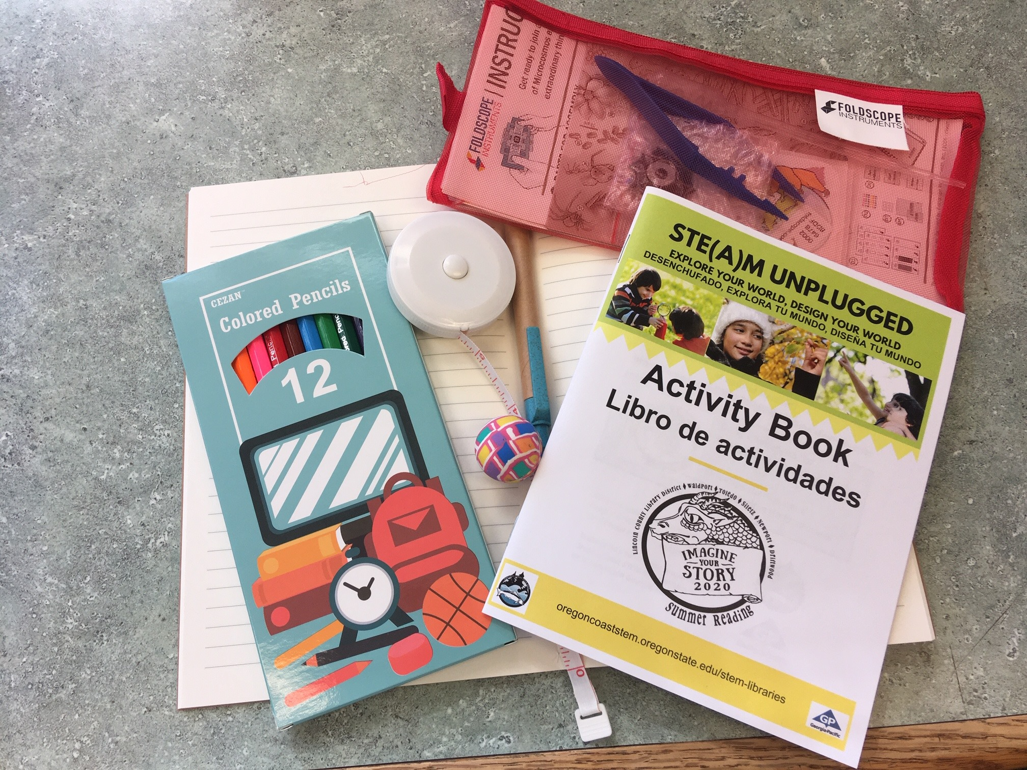 contents of STEM activity kits