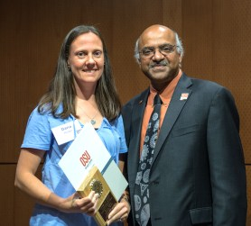 Dana Howe is the 2015 Outstanding Faculty Research Assistant winner.
