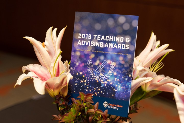 College of Science Teaching and Advising Awards, 2019