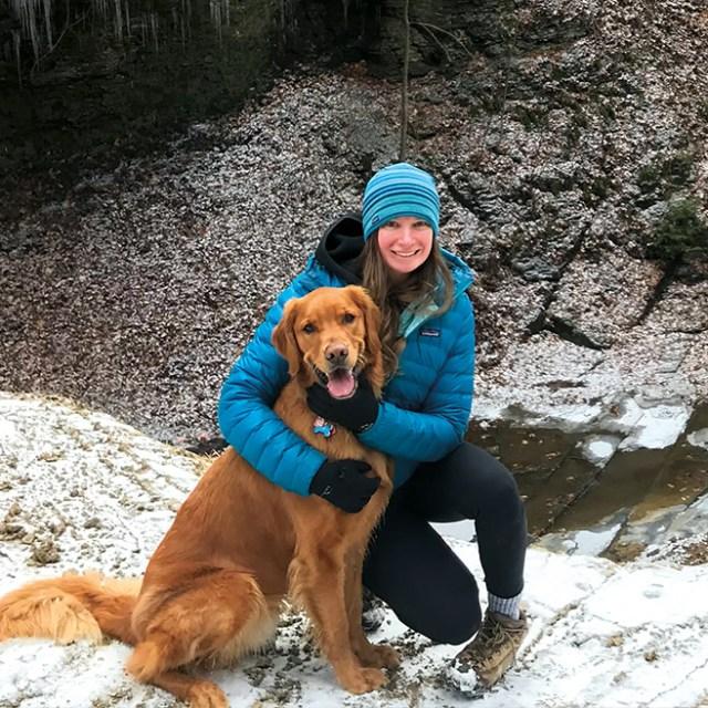 Mary Beth Berkes and Dog
