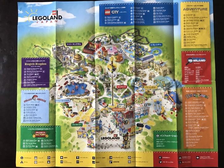 レゴランド名古屋の園内マップ