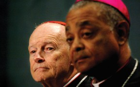 Then-Cardinal Theodore E. McCarrick of Washington and then-Bishop Wilton D. Gregory,
