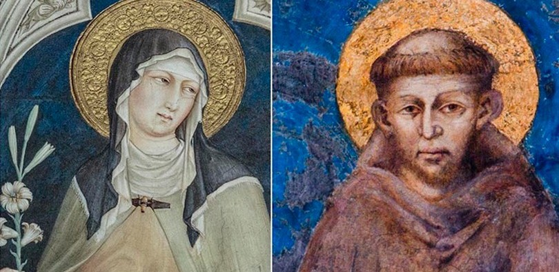 St. Clare and St. Francis of Assisi