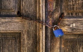 locked church door