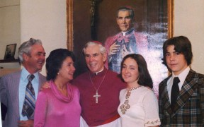 ARCHBISHOP SHEEN WITH FAMILY