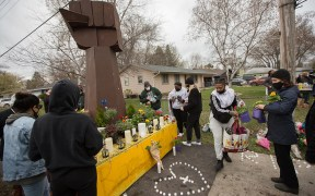MOURNING POLICE SHOOTING