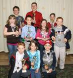 Winners of the Most Improved Award include, front row, left to right: Aaron Dedich, Christina Tallents and Dominick Mason. Second row, left to right: Mykayla Harris, Koji Burdic, Macy Middleton and Andrew Dedich. Back row, left to right: Tabor Freeman, Ross Gardner and Camille Stevenson.