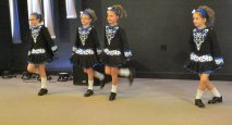 Members of the Kinlough Irish Dance Studio show off their skills for the crowd.