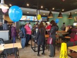 Lines stayed consistently busy during Fulton Taco Bell's grand opening.