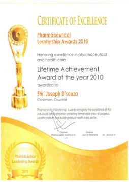 Pharmaceutical Leadership Awards 2010