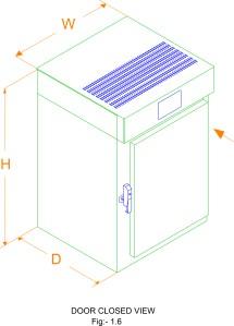 Bacteriological Incubator closed view
