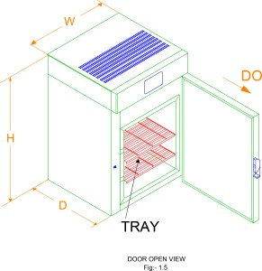 Bacteriological Incubator open door view