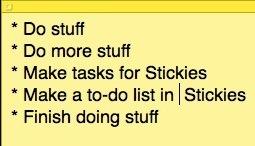 список дел для Mac - стикеры