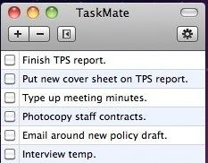 список задач Mac - товарищ по задаче