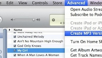 Convert m4a to mp3 with iTunes
