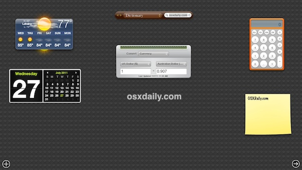 Default Dashboard Wallpaper in Mac OS X Lion