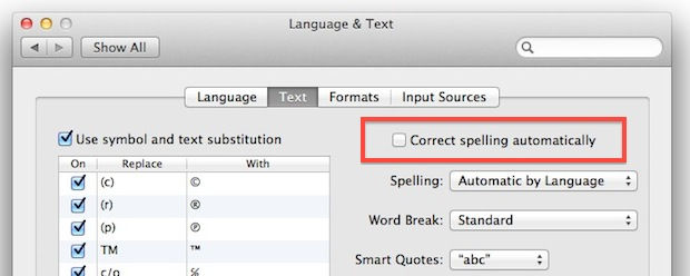 change spell check language in mac mail