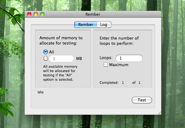 Rember is GUI frontend to MemTest