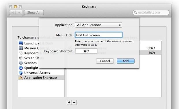can exit full screen chrome mac
