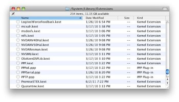 List All Third Party Kernel Extensions in Mac OS X