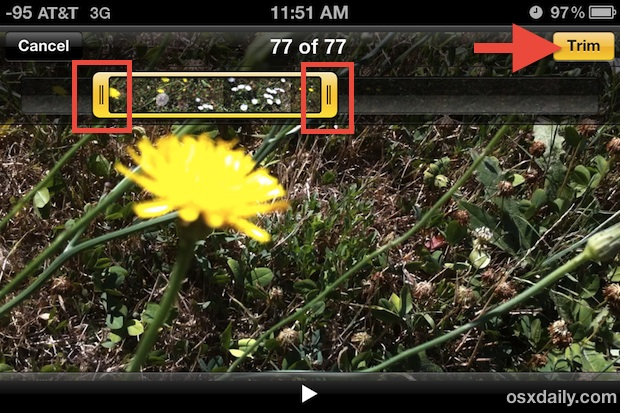 Trim Video right on the iPhone
