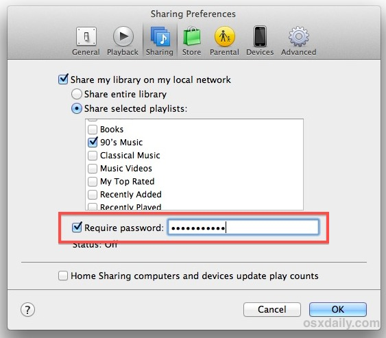 home sharing not working between mac and pc