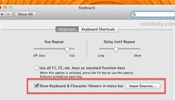 Access Mac Special Characters with the Character Viewer