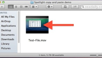Cut and Paste Files & Folders in Mac OS X