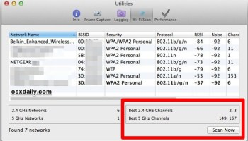 Wi-Fi Scanner Tool is Native in Mac OS X, Here's How to Use it