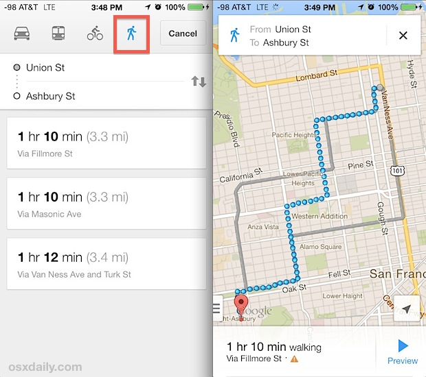 How to Get Transit Directions in Maps on iPhone