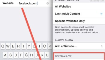 How to block access to adult content websites on iphone ipad block specific web sites in safari for ios with a ccuart Gallery