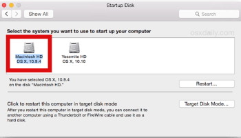 How to Boot into Recovery HD Partition on a Mac OS X with