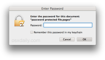 How to Password Protect Pages, Keynote, & Numbers Documents