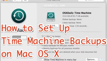 "Fix Time Machine When Stuck on ""Preparing Backup"" in Mac OS X"