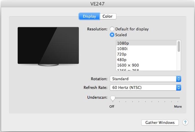 show more display options mac