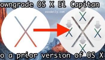 How to Downgrade OS X Yosemite Back to OS X Mavericks