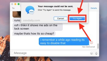 """Fix Repeated """"Your message could not be sent"""" Messages Error on Mac"""