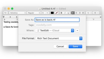 "How to ""Save As"" in Mac OS X Lion with an ""Export"" Shortcut"