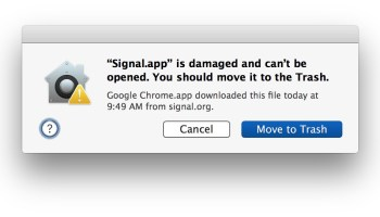 Macbook air wont let me download from unidentified space