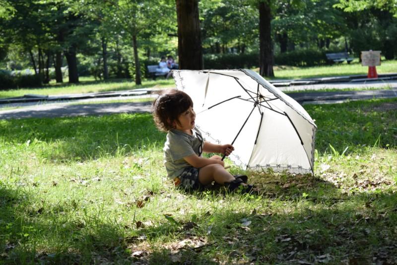 日傘と子ども