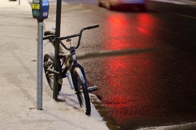 冬の自転車