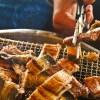 ウェーバーグリルでウナギの蒲焼き