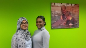 Skills for care garduate Nazia Khanum and HR intern Cherrelle Sandiford