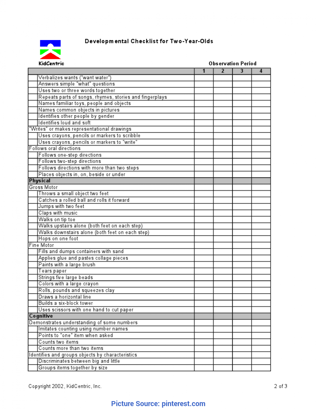 Best 2 Year Old Curriculum Assessment 2 Year Old Page 2 Of