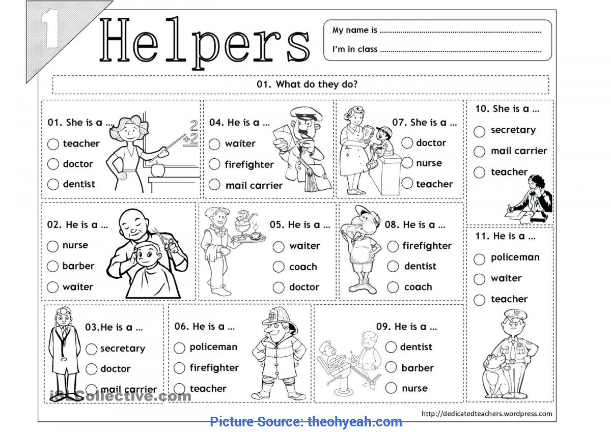 Preschool Worksheet Gallery Preschool Community Helpers