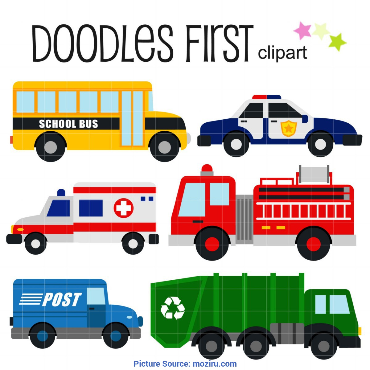 Interesting Community Helpers Vehicles Vehicle Clipart