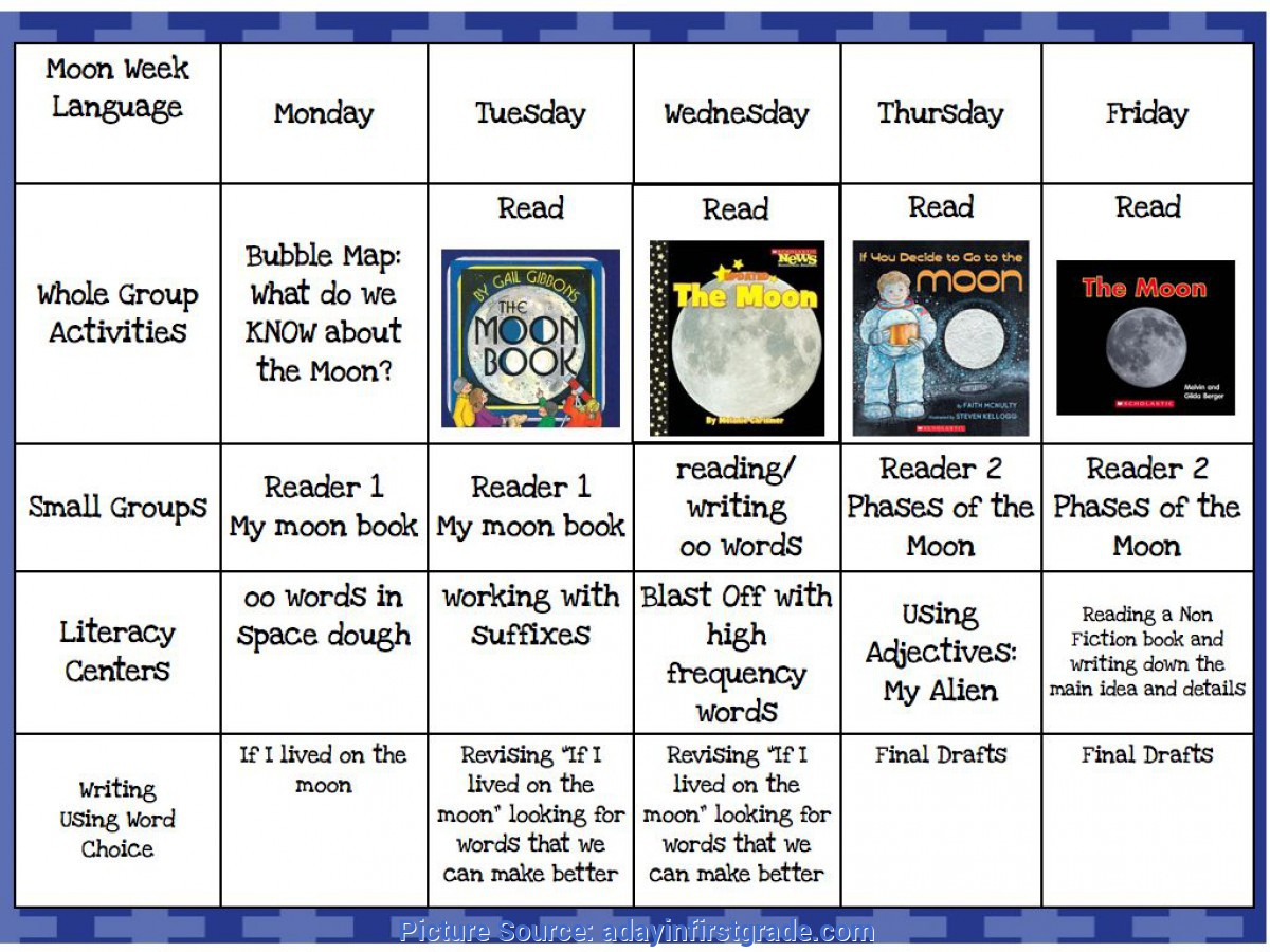 Simple 5e Lesson Plan First Grade A Day In First Grade Blast Off To The M
