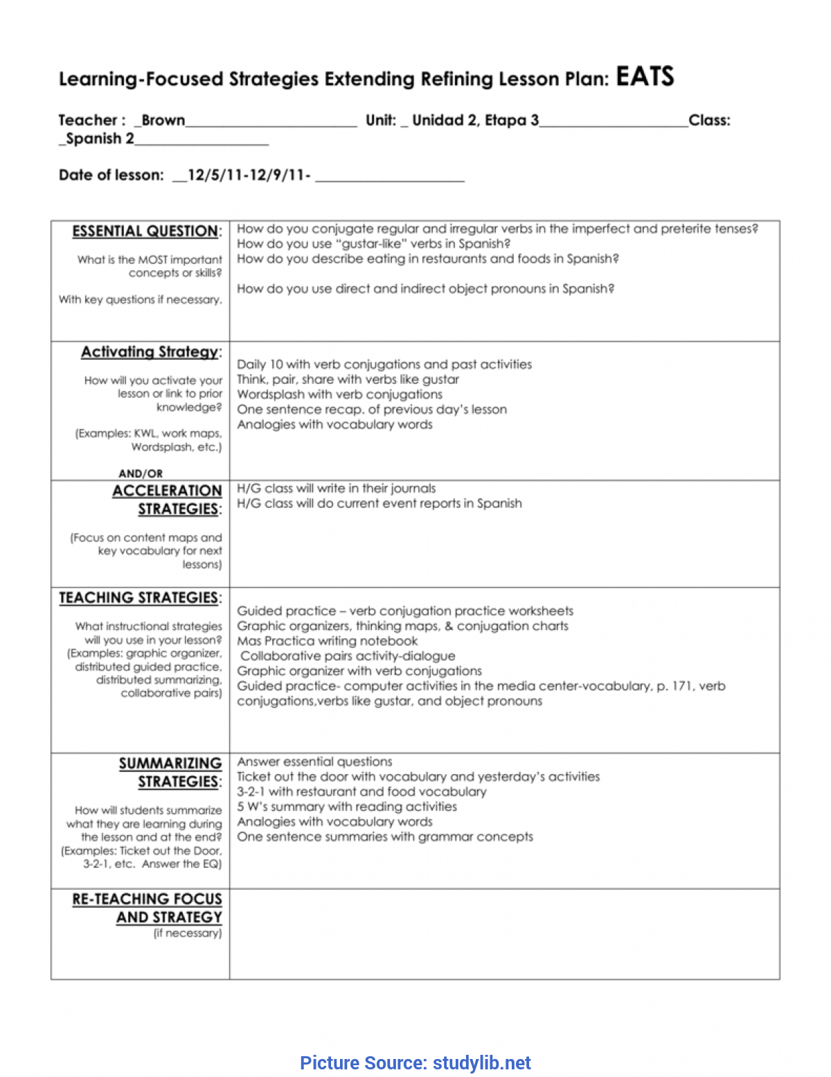 Interesting Long Range Lesson Plan Template Physical