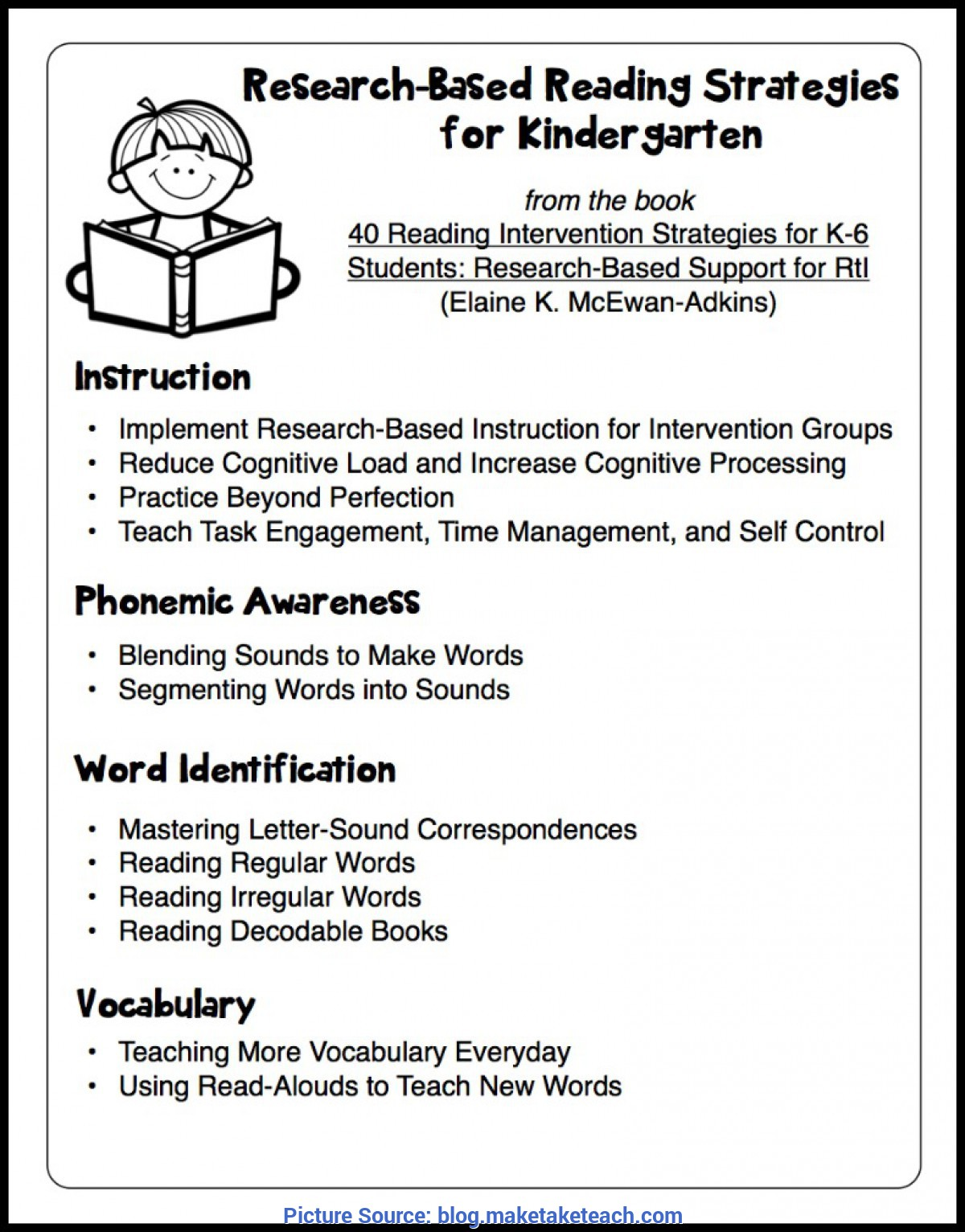 Top Lesson Plan For Kindergarten Reading Research Based